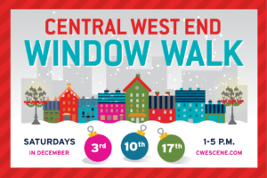 Nicki's Central West End Guide Books, Dance, Music, Theater Events, Sightings Food and Drink For Children  Maryland Plaza Holiday Window Walk Holiday on the Plaza explorestlouis/centralwestend CWEScene.com Chase Park Plaza Central West End Association Central West End Bowood Farms