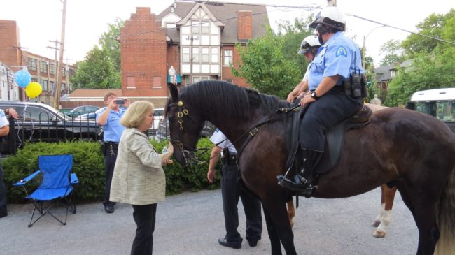 Nicki's Central West End Guide Events, Sightings For Children Services  Mounted Patrol Mayor Lyda Krewson Jim Whyte Jay Scheinman CWE NSI Alderman Heather Navarro