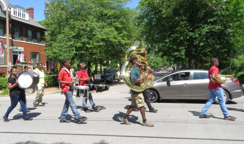 Nicki's Central West End Guide Books, Dance, Music, Theater Events, Sightings  Straub's Schlafly Library Normandy High School's marching band Mike's Bikes Make Music Day CWE Left Bank Books Evangeline's Citizen Park